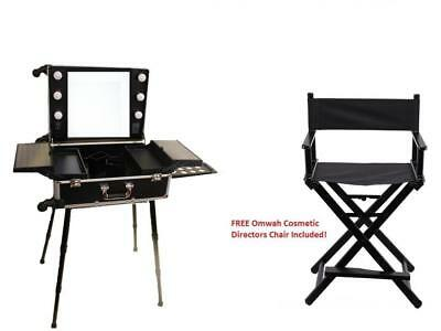 Professional Rolling Studio To Go Makeup Artist Station Portable Travel...