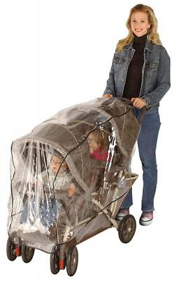 J is for Jeep Double Stroller Rain Cover, Tandem Baby Accessories, Weather...