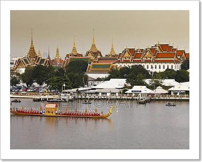 Royal Barge Procession In Thailand Art Print Home Decor Wall Art Poster - D