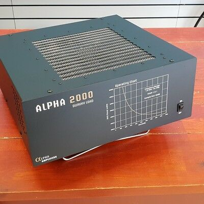 ALPHA 2000 DUMMY LOAD, 2KW CONTINUOUS, 6KW 2min, 1-60MHZ, Force Air Cooled, NEW