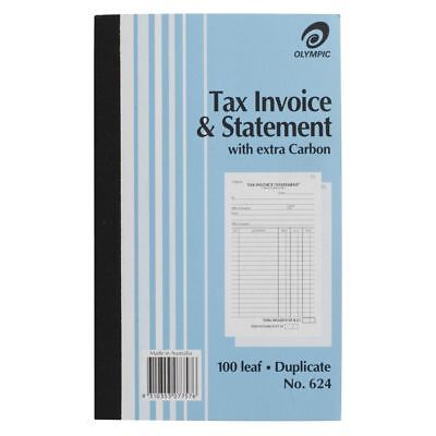 10 Olympic Tax Invoice & Statement Books No.624 #624 Duplicate Bulk 140872