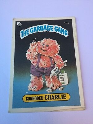 #19a 1986 The Garbage Gang Pail Kids Series 1 New Zealand Set Rare Card