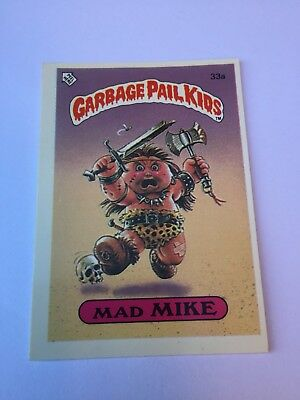 #33a 1986 The Garbage Gang Pail Kids Series 1 New Zealand Set Rare Card