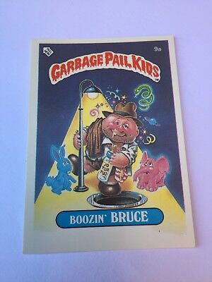 #9a 1986 The Garbage Gang Pail Kids Series 1 New Zealand Set Rare Card