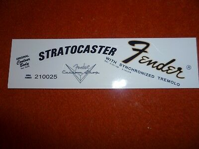 Stratocaster Late 60s (Lefty)Waterslide Decal