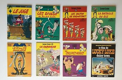 Lucky Luke / Morris Goscinny / Lot 8 Bd Broché Pub Total Dupuis