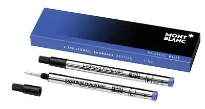 Mont Blanc LeGrand Rollerball Blue Fine Refills - Exp 2017 - Excellent Condition