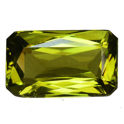 """2.915CTS Super top luster green natural sphene octagon loose gems """"see video"""""""