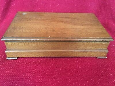 Vintage Tiger Curly Maple Jewelry Box Trunk Chest Hand Made