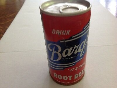 Barq's Root Beer Steel Pull Tab Soda Can