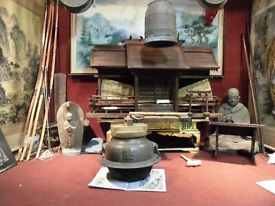 Japanese Buddhist Temple Tea Ceremony Pot  Chagama         Check Out Video