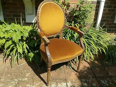 Antique French Kingwood Parlour Bedroom chair shabby chic