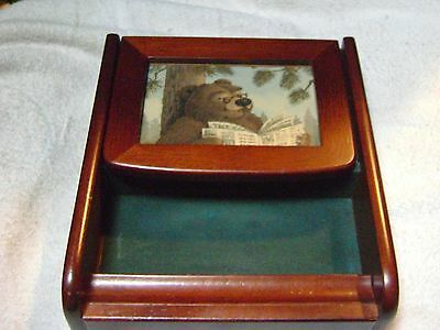 Childs Vintage Wooden Jewelry Box