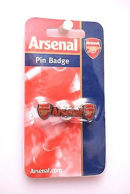 New Official Arsenal Football Club Twin Crest  Enamel Pin Badge Gunners Gift
