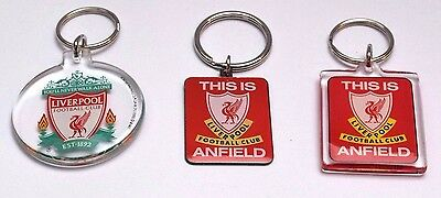 Liverpool FC Key Ring Red Clear Anfeild Football Club Birthday Gift Keyring LFC