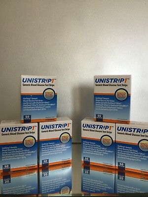 UNISTRIP 1 Blood Glucose 300 Test Strips, EXP 03/2021.  FREE SHIPPING
