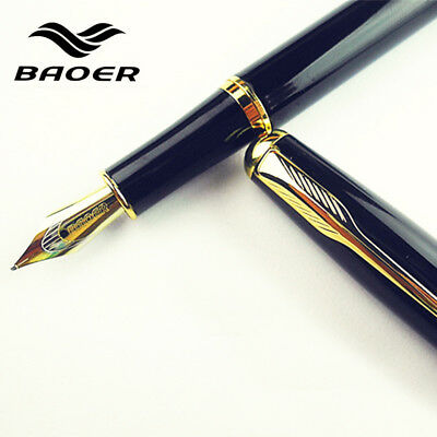 Genuine Baoer 388 Fountain Pen Full Metal 0.5mm Medium Nib Office school Student