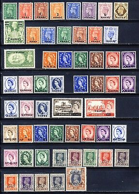 Muscat and Oman 1944-66  mlh vf long sets complete on two pages   400.00