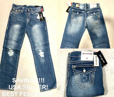 True Religion Ricky Relaxed Straight Jeans For Men W/ Tags Free Shipping