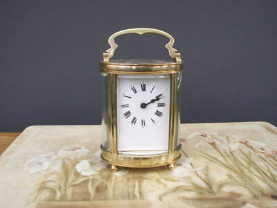 Lovely French Oval Shaped Brass Carriage Clock Fully Serviced
