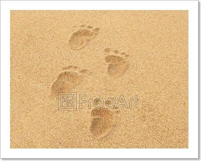 FOOTPRINTS IN THE Sand Printed On Kona Cotton Fabric Applique for ...
