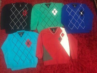 Lot De 5 Ralph Lauren Pull Polo V lots
