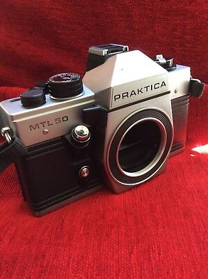 Praktica MTL50 35mm SLR Camera Body And Retro Strap Fully Working