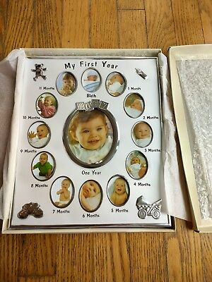 MY FIRST YEAR Baby Pictures photo frame lot of 4