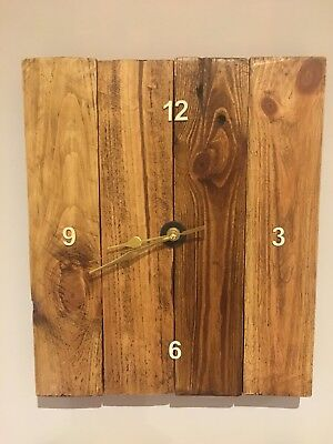 handmade wooden clock - upcycled pallet wood