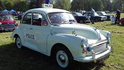 Morris Minor 1000 1968  South Yorkshire Police Car Replica In Very Rare White.