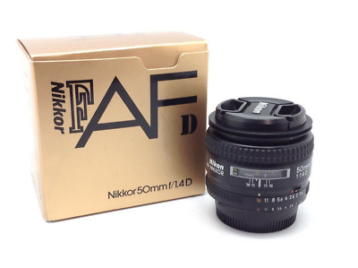 Nikon Nikkor AF 50mm f/1.4D en perfecto estado - Mint Condition