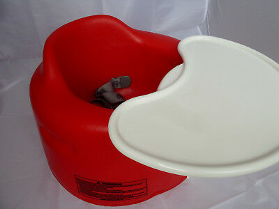 Bumbo Seat In Red Complete With Play / Feeding Tray And Belt