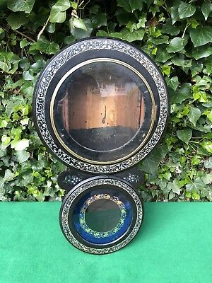 Superb Victorian Drop Dial Wall Clock Case, Mother of Pearl Inlay