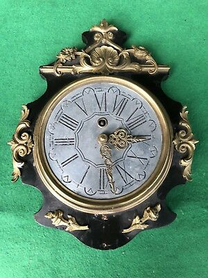 Antique 19th Century Japy Freres French Cartel Style Wall Clock For Restoration