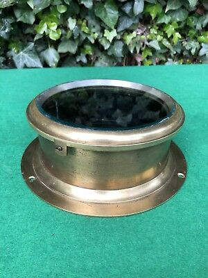 Lovely Antique F.W Elliott, Croydon, Brass Ships Clock Case