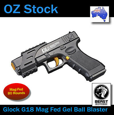GLOCK G18 Spring Manual Mag Fed Water Gel Ball Blaster Toy 100% OZ STOCK
