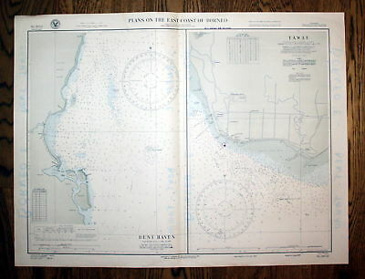 1938 Plans East Coast Borneo Dent Haven Tawau Asia Asien map Karte Plan plan