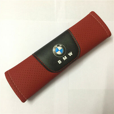 2Pcs Red High Quality Car Seat Belt Shoulder Cushion Cover Pad Fit For BMW Auto