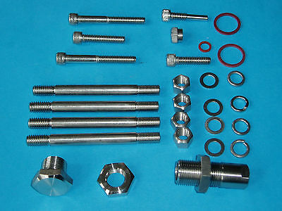 Bsa Gold Star Rrt2 Stainless Steel Gear Box Stud & Nut Kit