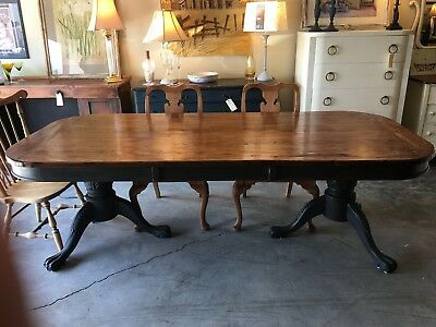 Wormy Chestnut Farm Table Custom Made