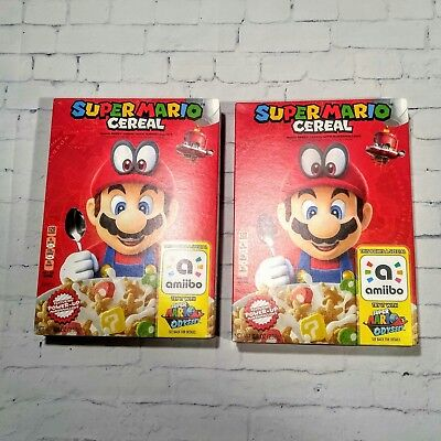 Super Mario Odyssey Cereal Liminted Edition Nintendo Ambiio Set of 2 Fast Ship!