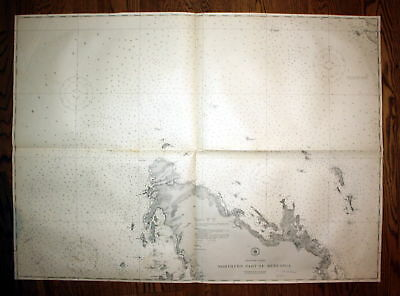 1940 Philippine Islands Northern Part Busuanga Philippinen map Karte chart Plan