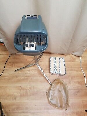 Vintage Stenograph Reporter Model Shorthand Machine W/ Tripod And Cover