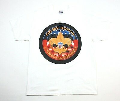 Vintage Boy Scout BSA T Shirt size Large Hanes Beefy On My Honor Timeless Values