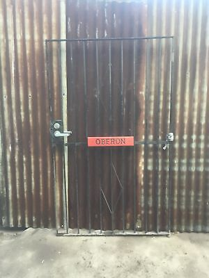 Heavy Duty Quality Black Gate ( With Sign Refer To Photo's) 1065w x 1755h x 220d