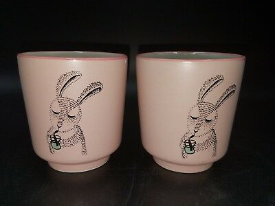 Bloomingville Ceramic Child's Cup rabbit set of 2