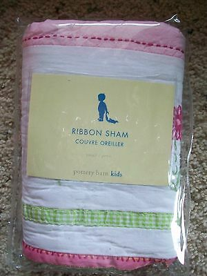 NEW NWT Pottery Barn Kids Ribbon Quilted Small Toddler Sham