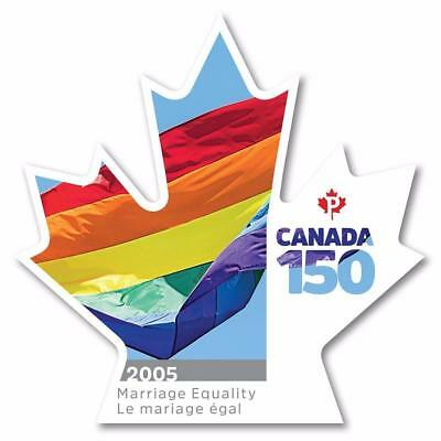 2017 Canada 150 MARRIAGE EQUALITY ~From Booklet MNH ~ FREE SHIPPING Canada / USA