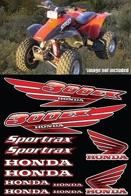 300ex honda RED FULL COLOR Decals Graphics 12pc Stickers ATV Gen1 Pick Any Color