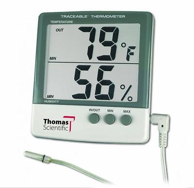 """Thomas 4184 ABS Plastic Traceable Jumbo Thermo-Hygrometer, 1-1/8"""" High..."""